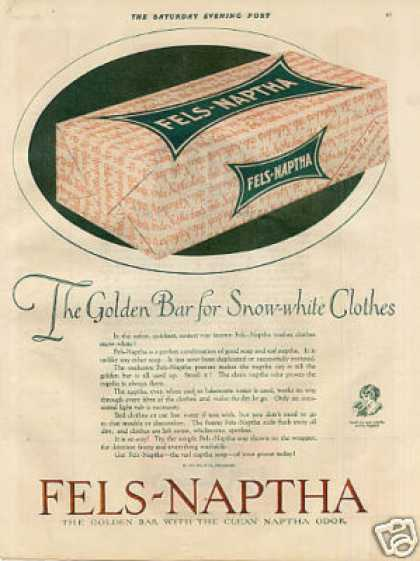 Fels-naptha Soap Color (1921)