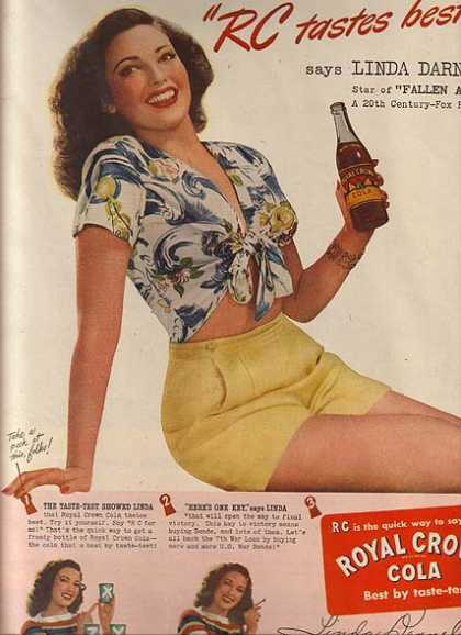 Royal Crown Cola – Linda Darnell (1945)