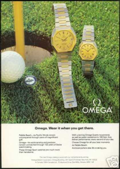 Omega Watch Photo Pebble Beach Golf Links (1981)