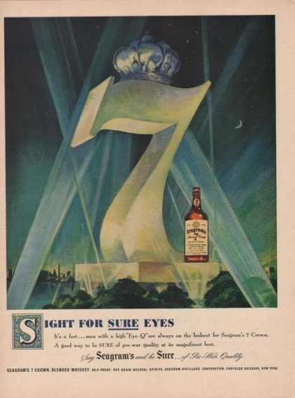 Sight for Sure Eyes Seagrams 7 Whiskey (1949)