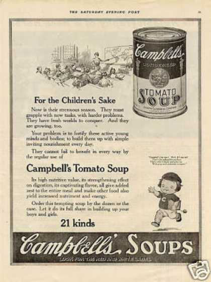 Campbell&#8217;s Soup Ad &quot;For the Children&#8217;s Sake... (1919)