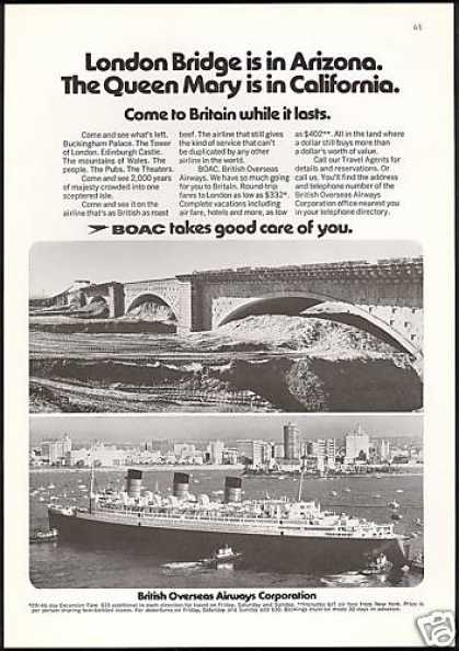 BOAC B O A C London Bridge Queen Mary (1971)