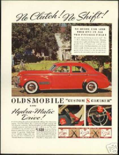 Red Oldsmobile Custom 8 Cruiser Photo Car (1940)