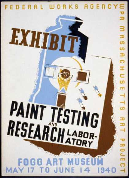 Exhibit – Paint testing and research laboratory – Fogg Art Museum. (1940)