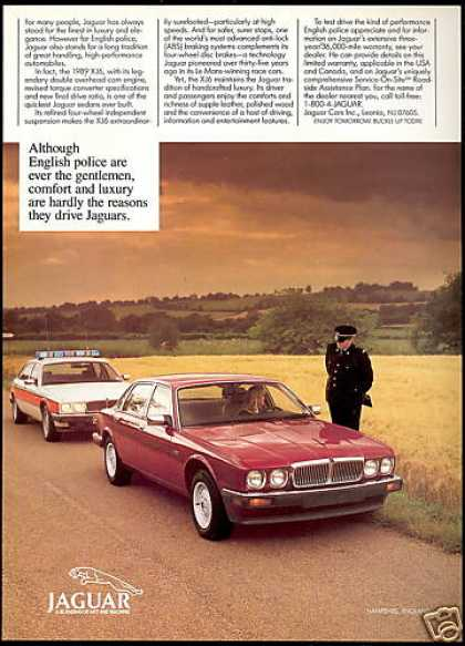 Jaguar XJ6 & Police Car Hampshire England (1989)