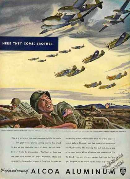 "Wwii ""Here They Come Brother"" Airplanes Alcoa (1943)"