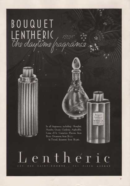 Bouquet Lentheric Daytime Fragrance Print (1939)