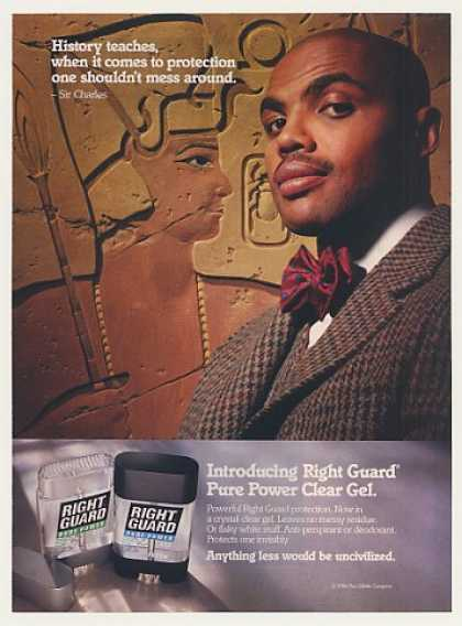 Charles Barkley Right Guard Deodorant Photo (1994)
