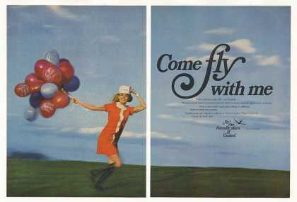 United Airlines Stewardess Come Fly With Me 2-P (1969)