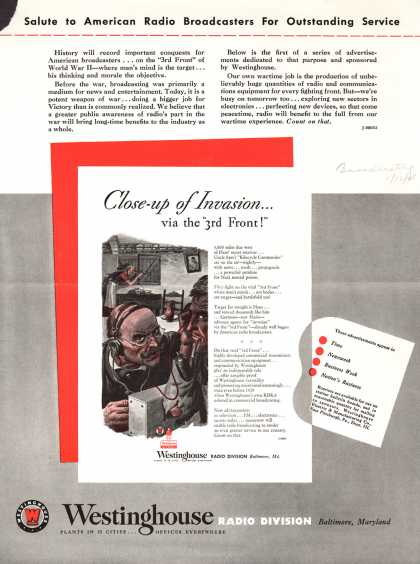 Westinghouse Electric & Manufacturing Company's Corporation – Salute to American Radio Broadcasters For Outstanding Service (1943)