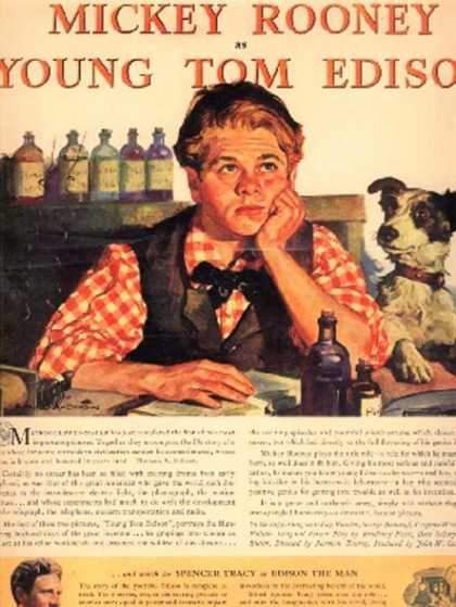 Young Tom Edison (Mickey Rooney) (1940)