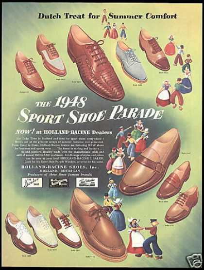 Dutch Treat Holland Racine Shoes (1948)