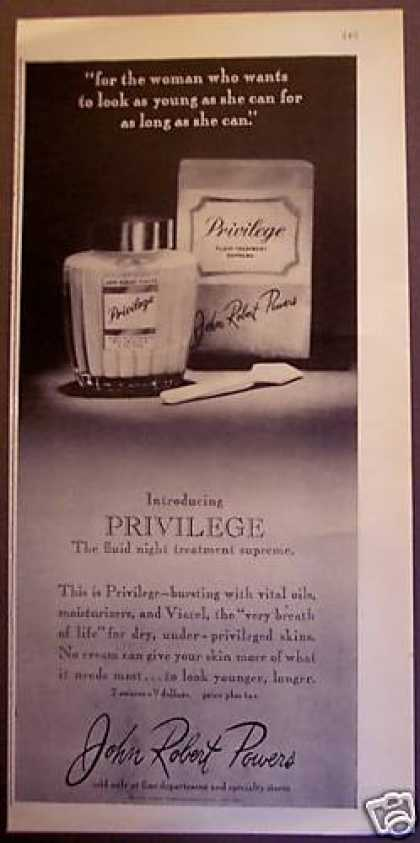 Prvilege Beauty Cream By John Robert Powers (1962)