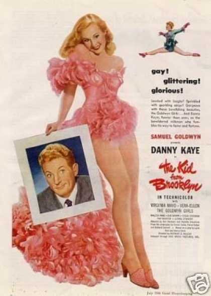 "Movie Ad ""The Kid From Brooklyn"" Virginia Mayo (1946)"