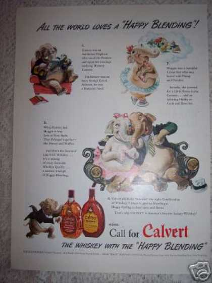 Calvert Whiskey Happy Elephants (1941)