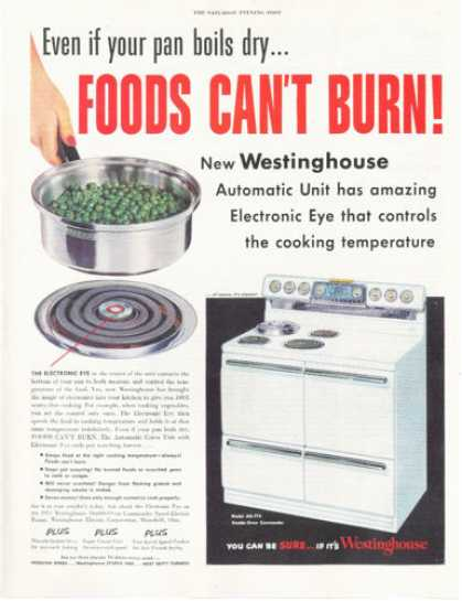Westinghouse Electric Range Oven (1953)