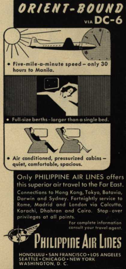 Philippine Air Line's Orient – Orient-Bound via DC-6 (1949)