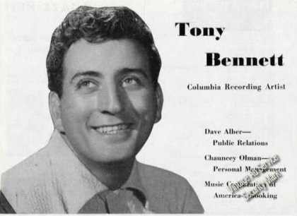Tony Bennett Photo Rare Music (1954)