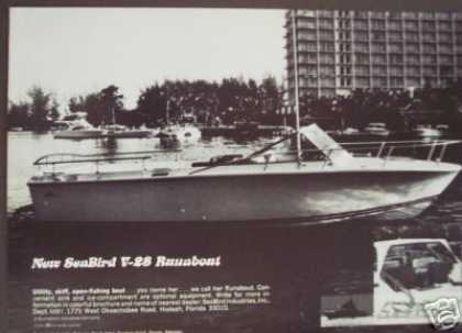 Sea Bird Seabird V-28 Runabout Boat Photo (1972)