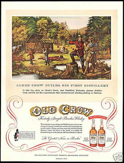Old Crow Whiskey Distillery Frankfort Kentucky (1955)