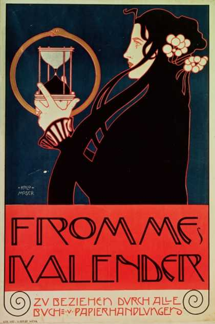 Design for the Frommes Calendar, for the 14th Exhibition of the Vienna Secession (1902)