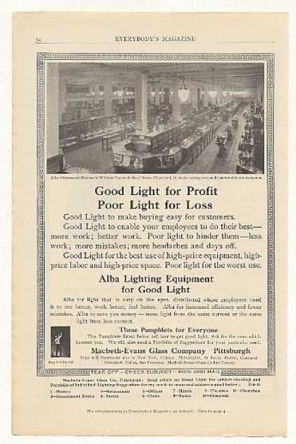 William Taylor Sons Store Cleveland Alba Light (1915)