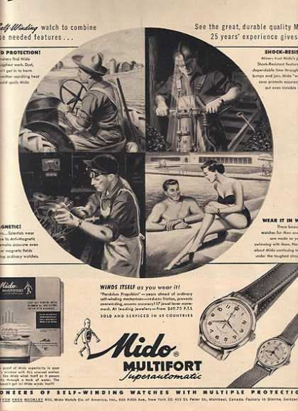 Mido's Multifort Superautomatic Watches (1950)