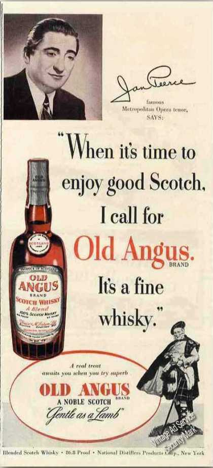 Jan Peerce Photo Old Angus Scotch (1951)
