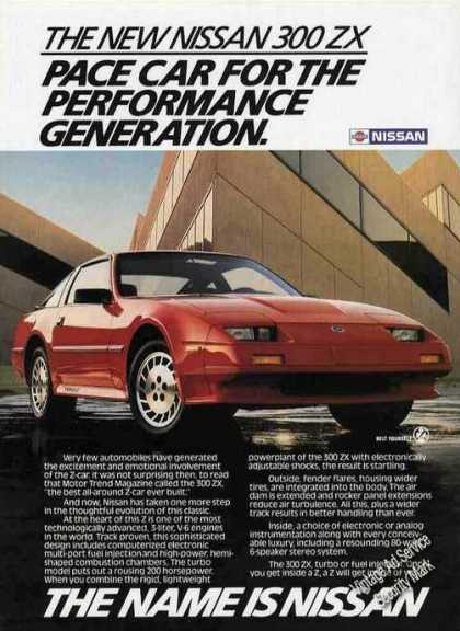 "Nissan 300zx ""Pace Car Performance Generation"" (1986)"