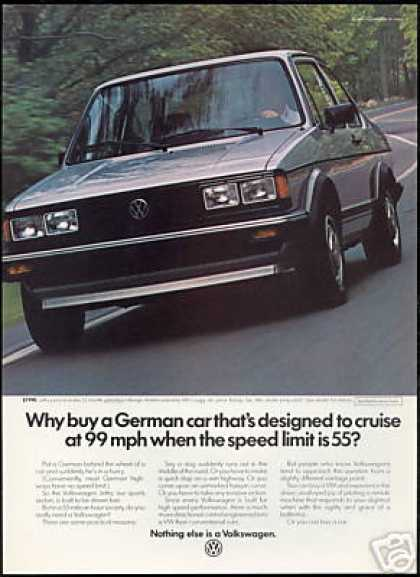 VW Volkswagen Jetta Cruise At 99 Mph Car (1983)
