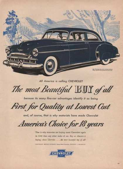 Most Beautiful Buy of All Chevrolet Stylei (1949)