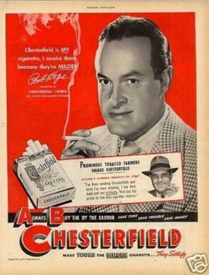 Chesterfield Cigarettes Ad Bob Hope (1949)
