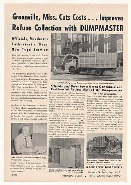 Greenville MS Dempster Dumpmaster Garbage Truck (1960)