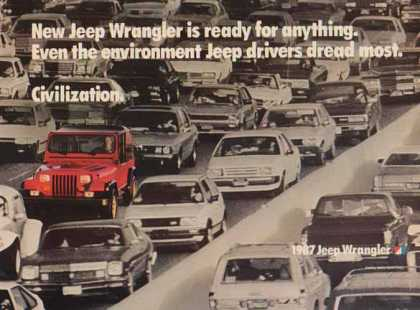 Jeep Wrangler – New Jeep Wrangler Red in Civilization (1987)