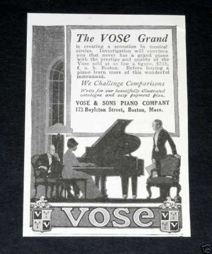 Vose & Sons Pianos, Grand (1918)