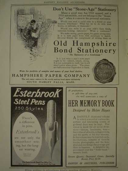 Hampshire Paper Co AND Esterbrook Steel Pens AND ATT American Telephone and Telegraph Co (1910)