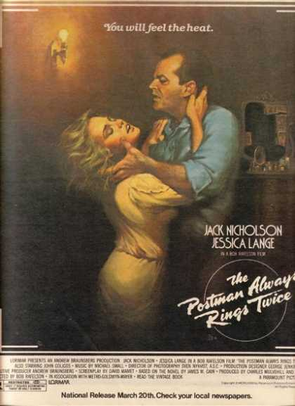 The Postman Always Rings Twice (Jack Nicholson and Jessica Lange) (1981)