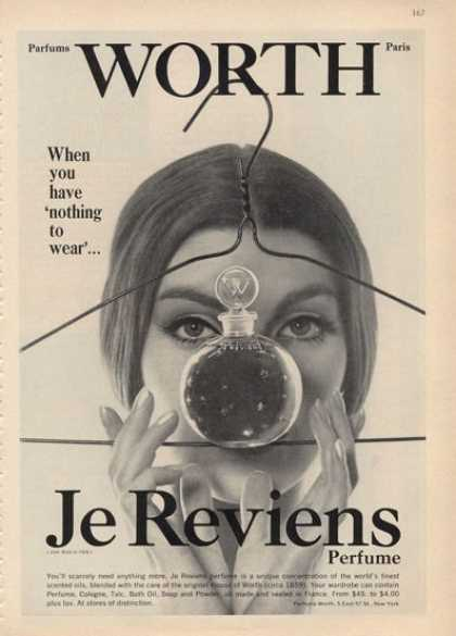 Je Reviens Worth Perfume Bottles (1964)