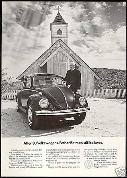VW Volkswagen Bug North Dakota Church (1969)