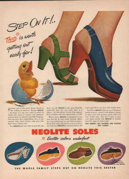 Neolite Soles Easter Colors Shoes (1946)