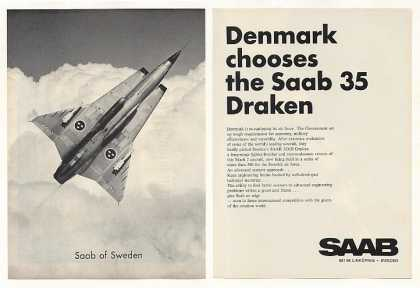 Denmark Air Force Saab 35 Draken Aircraft (1968)