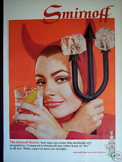 Devil Girl Photo Smirnoff Vodka Martini (1968)