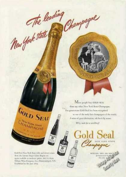 Gold Seal New York State Champagne (1949)