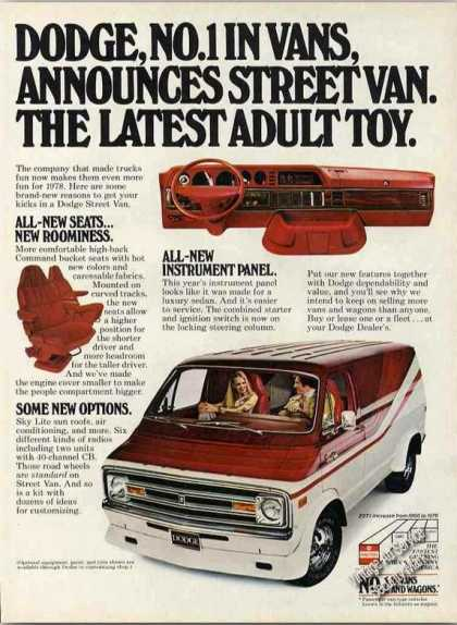 "Dodge Van Street Van ""Latest Adult Toy"" (1978)"