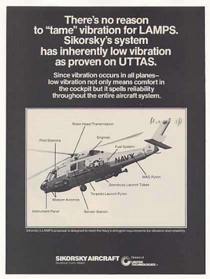 Sikorsky Aircraft US Navy UTTAS Helicopter (1977)