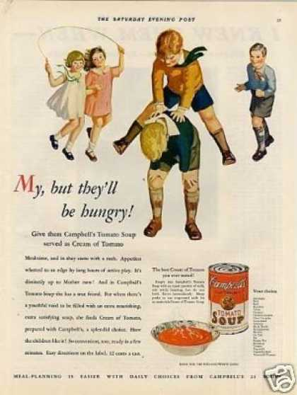 "Campbell's Tomato Soup Ad ""My, But They'll Be... (1931)"