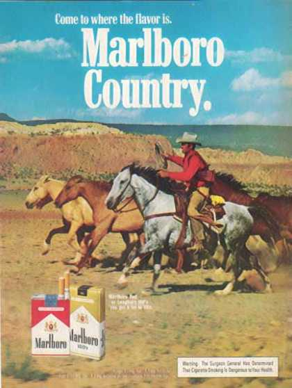Marlboro Country Cigarettes – Cowboy with Horses (1975)