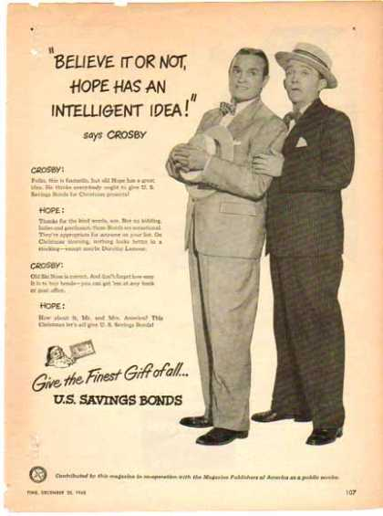 U.S. Savings Bonds – Hope & Crosby – Sold (1948)