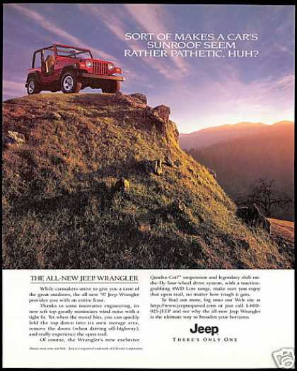 Red Jeep Wrangler 4WD Photo (1997)