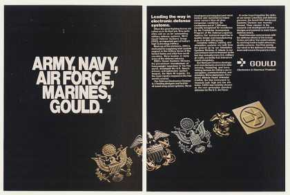 Army Navy Air Force Marines Pins Gould (1983)